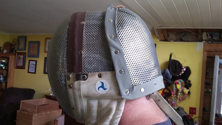 Back of Fencing Mask